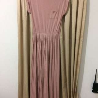 Dress Pleated PinkEmma Dusty Pink