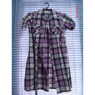Checkered dress for kids