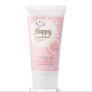 BN Etude House Essential Happy Collagen Cleansing Foam Face Wash