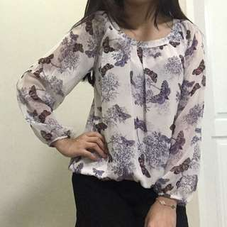 Butterfly Blouse (Brand : Dorothy Perkins)
