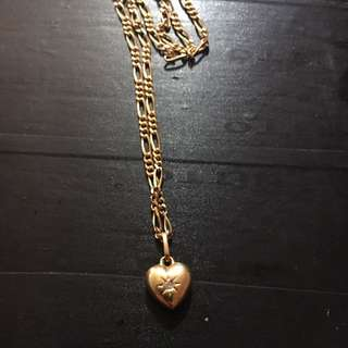 18ct gold & diamond necklace & pendent