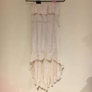 Cream Beach Dress