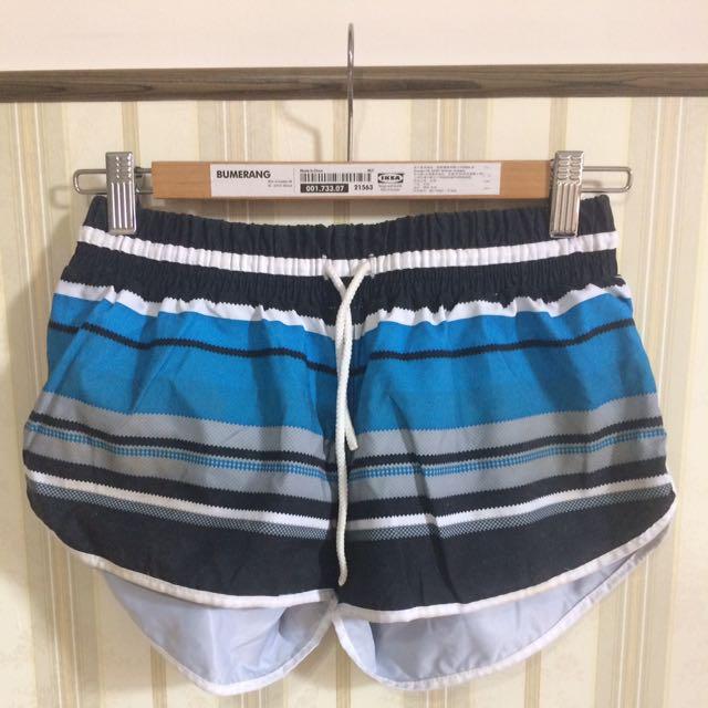 墾丁藍黑條紋海灘運動褲#兩百元短褲