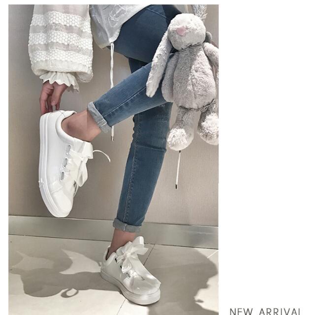 下殺💲!韓系亮皮緞帶小白鞋 Puma可參考