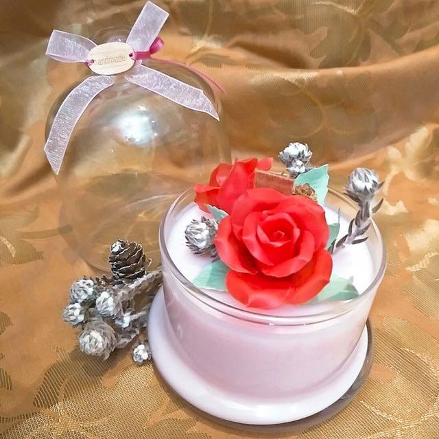 玫瑰香氛蠟燭-母親節