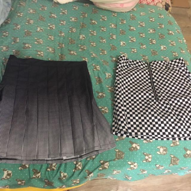 百褶裙 百鳥格紋裙