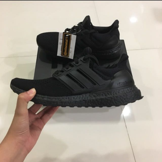 384a2a4a36e71 Adidas Ultraboost 1.0 Triple Black with Continental Rubber Soles ...