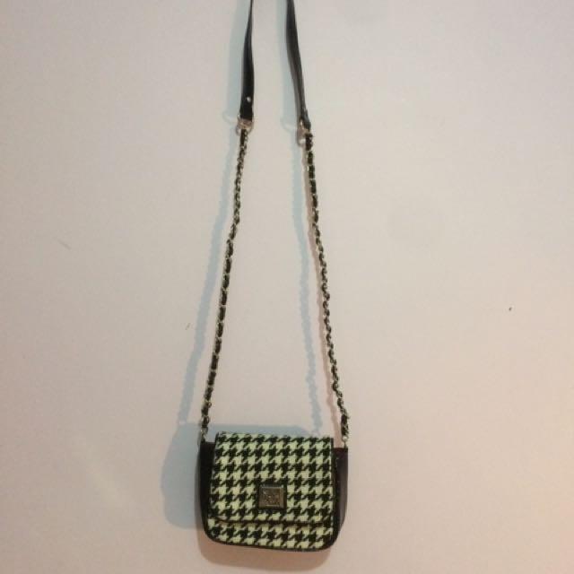 Anne Klein Crossbody Houndstooth Bag
