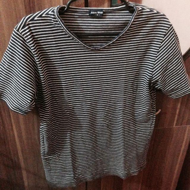 Aqua Blue Stripes Shirt