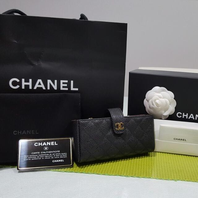 d7ccb1d3b784 QUICK SALE Authentic NEW Chanel Phone Pouch/ Small Clutch In Black Caviar  Leather, Luxury, Bags & Wallets on Carousell