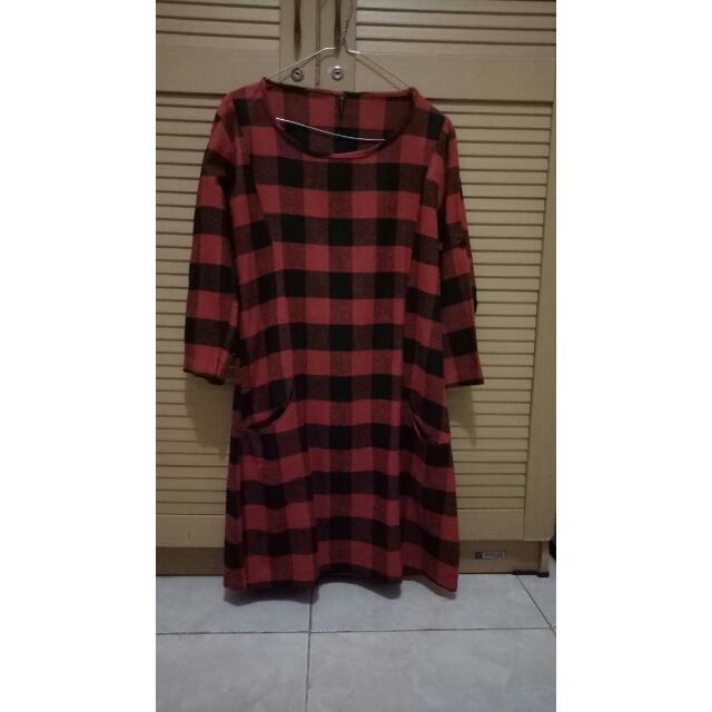 baju kotak merah hitam (flanel)