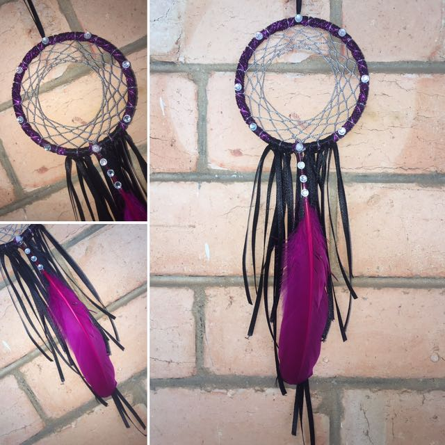 Black & Hot Pink Dreamcatcher