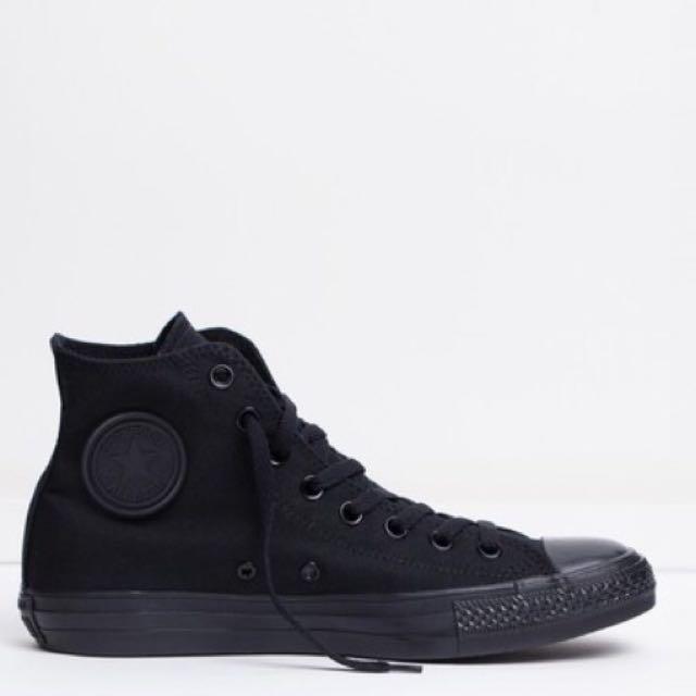 New Black Converse