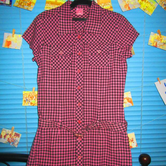 SALE!!! Bubblegum Violet Checkered Dress