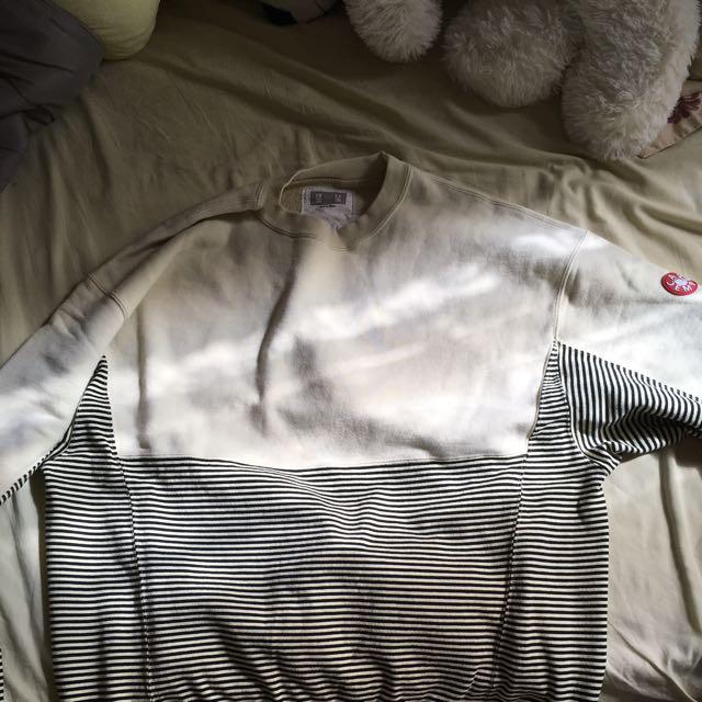 Cav Empt Striped Panel Pullover