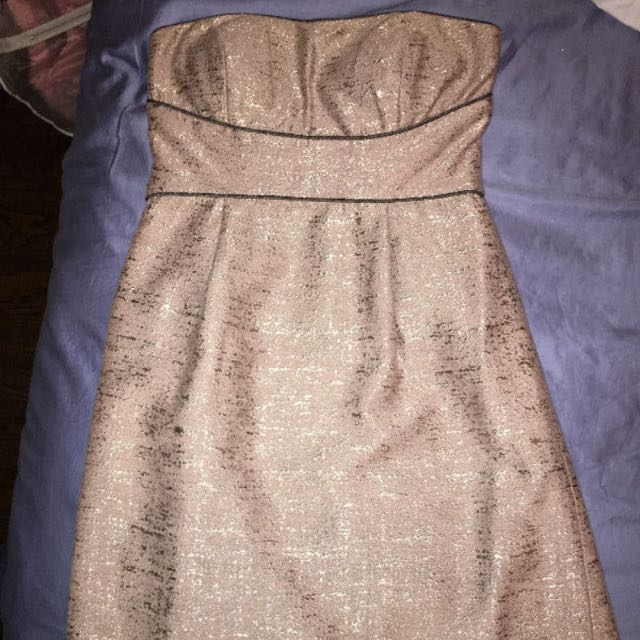 Champagne Coloured Strapless Dress