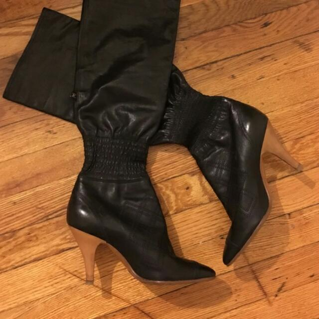 Chanel Black Knee-high Boots