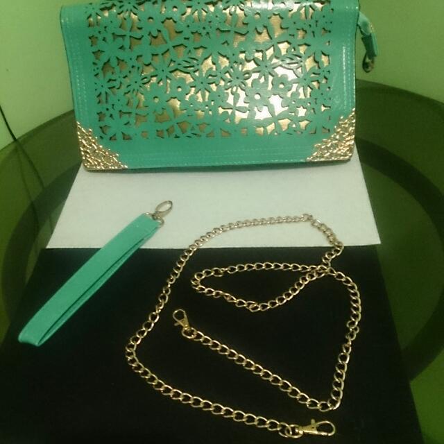 Clutch Bag Aqua Blue
