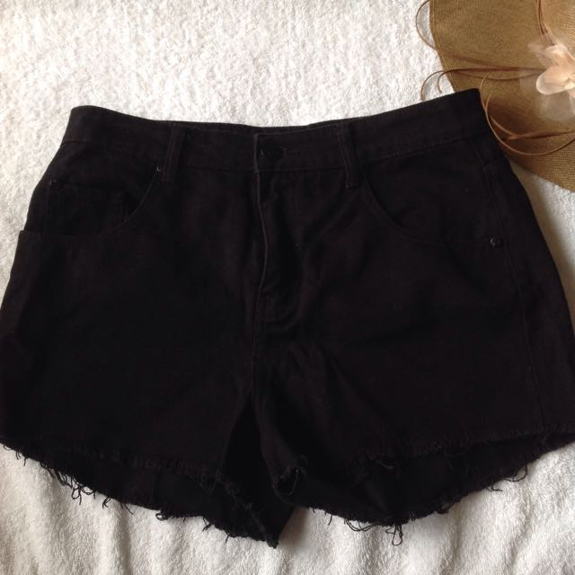 Cotton On High Rise Black Shorts