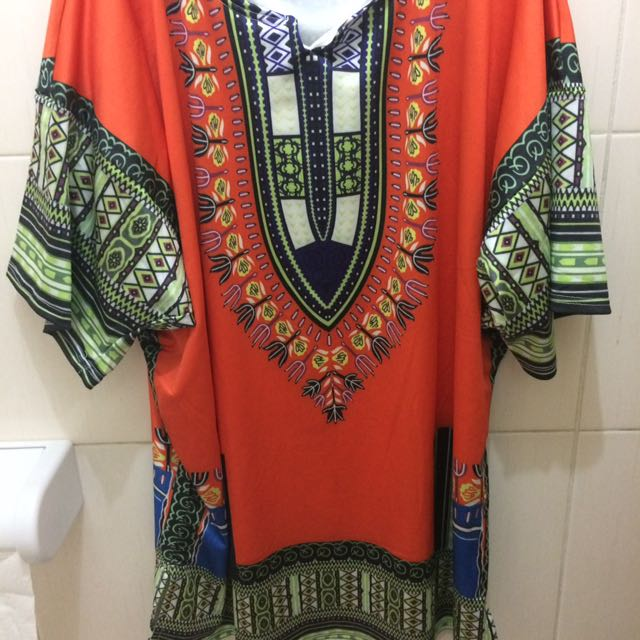 Dashiki Mini Dress (unbranded)