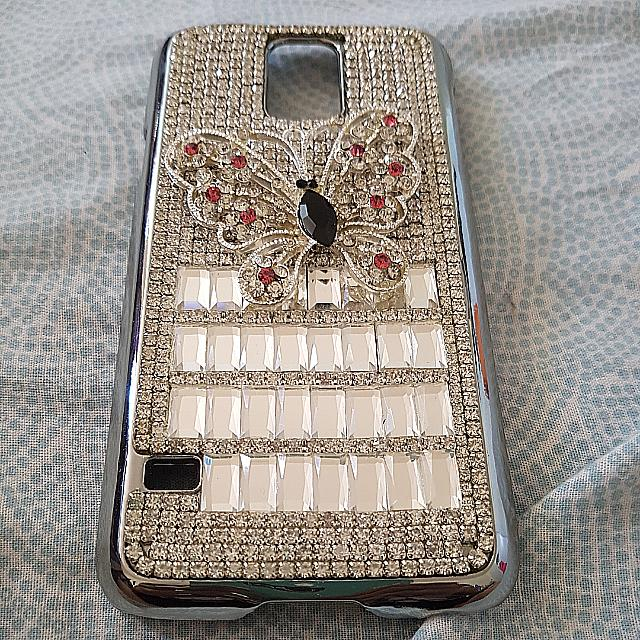 Diamond Butterfly Case For Samsung S5