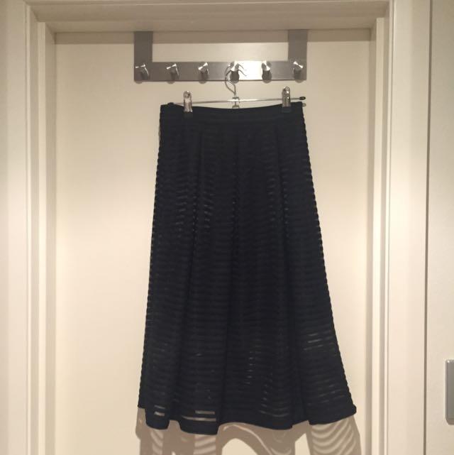 Dotti Black Midi Skirt