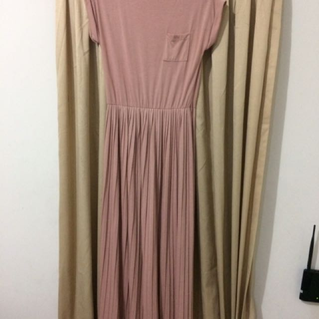 Dress Pleated PinkEmma Dusty Pink