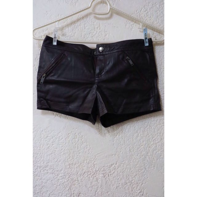 F21 Leather Shorts
