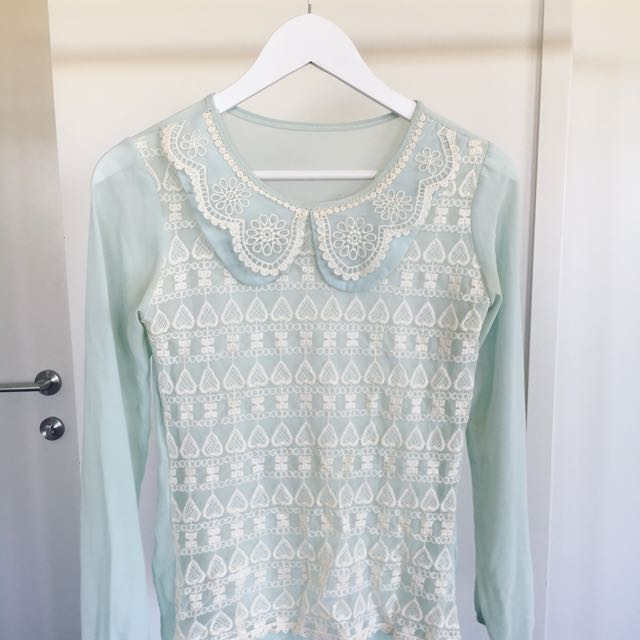 Flowery Lace Top