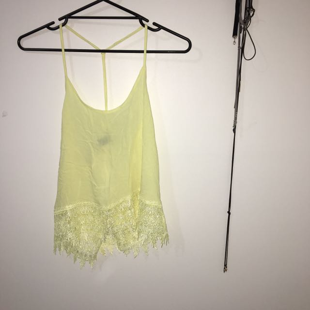 FOREVER 21 Yellow Singlet Top