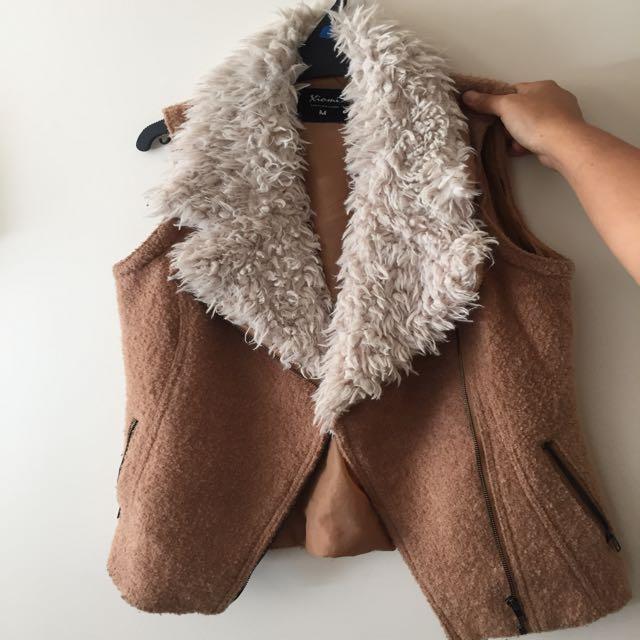Furry Coat Convertible To Vest