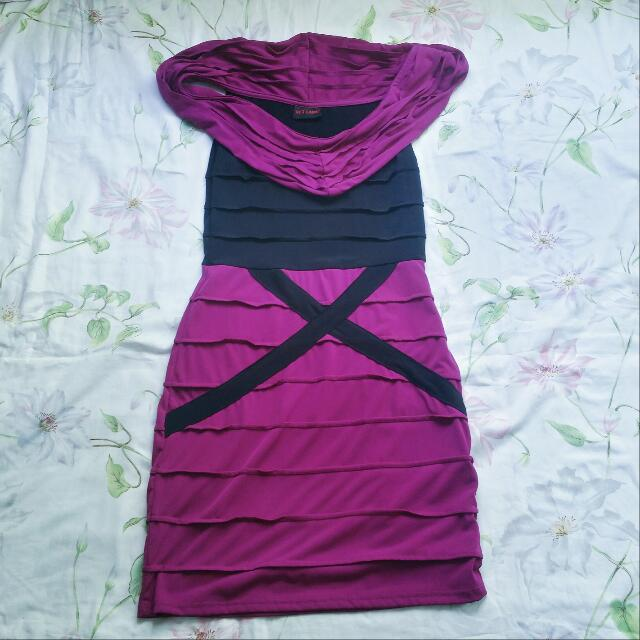 Get Laud! Magenta Strerch Dress