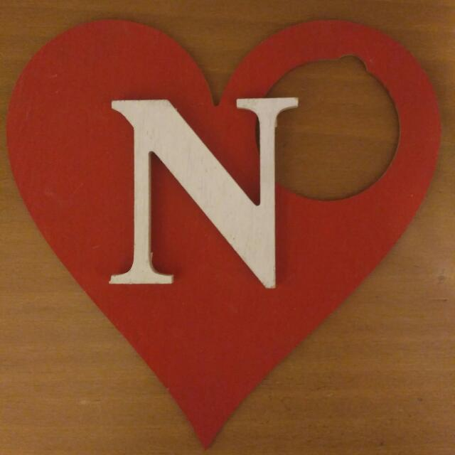 Heart Shape Decor With Letter N Design Craft Others On Carousell