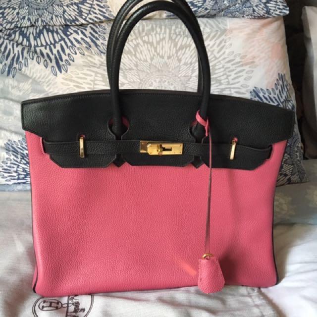 Hermes Black Pink Bag (replica)