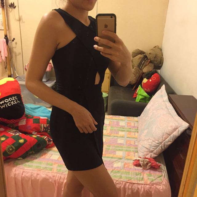 H&M黑色無袖洋裝