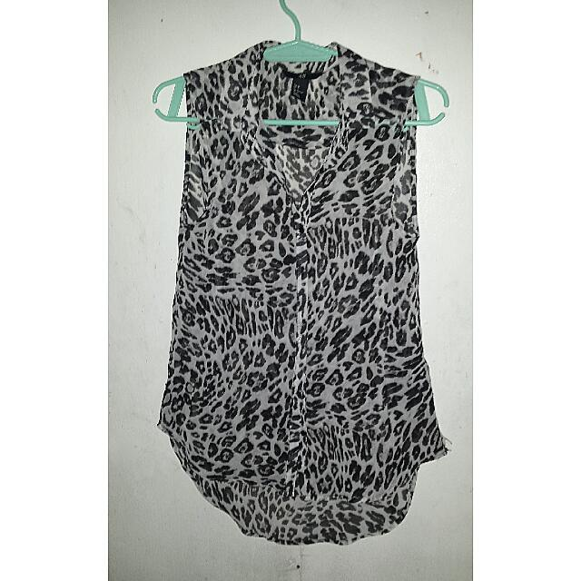 H&M Animal Print Long Back Sleeveless