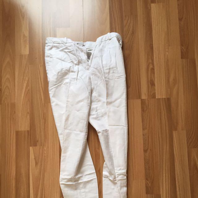 H&M trouser white