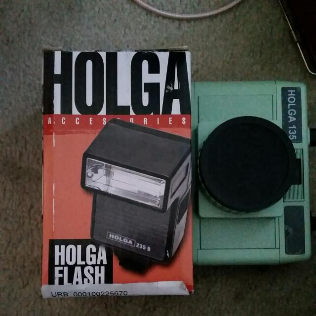 Holga Camera And Flash