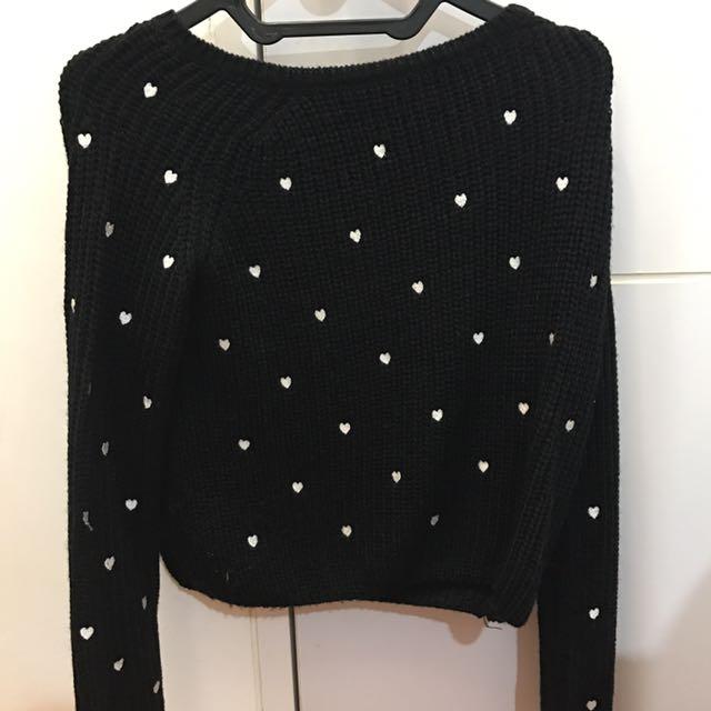 Hongkong Market Heart Knit Sweater