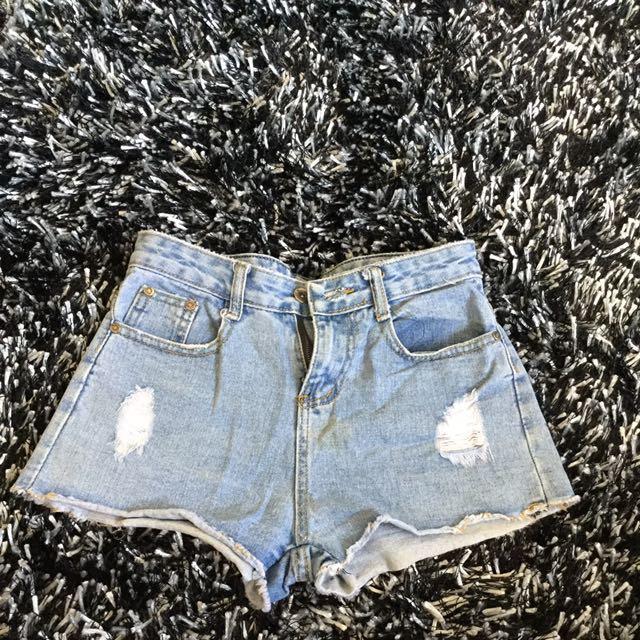 HW Denim Acid Wash short