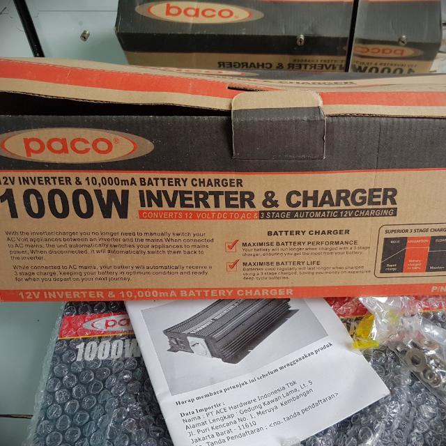 Inverter & Charger 1000w Gantinya Genset