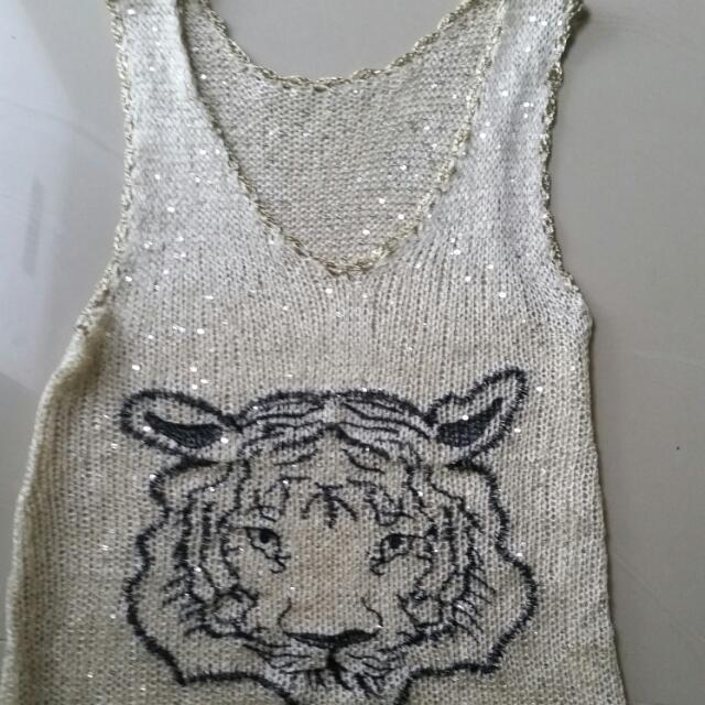 KNITTED TIGER TOP