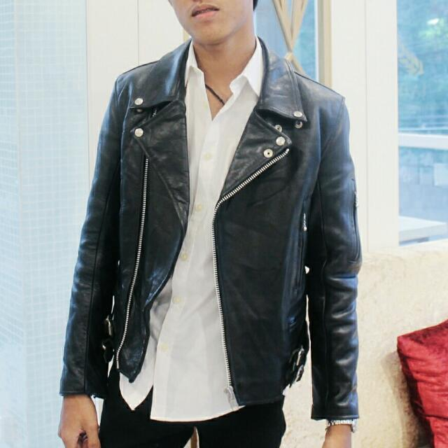 Leather Jacket Black Classic (Jaket Kulit)