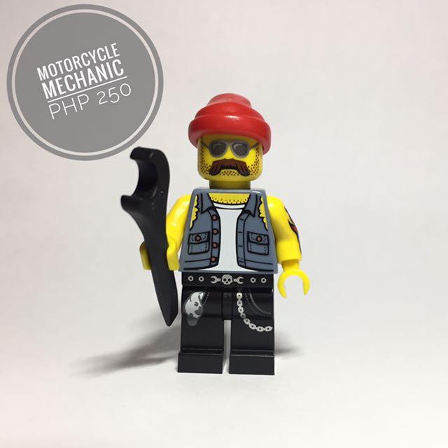 Lego Minifigure Motorcycle Mechanic