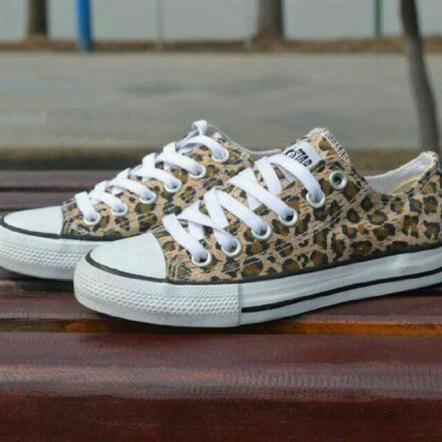 Leopard Custom Converse Shoes