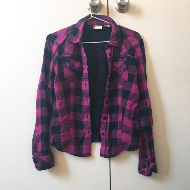 Levi's Purple Checked Shirt