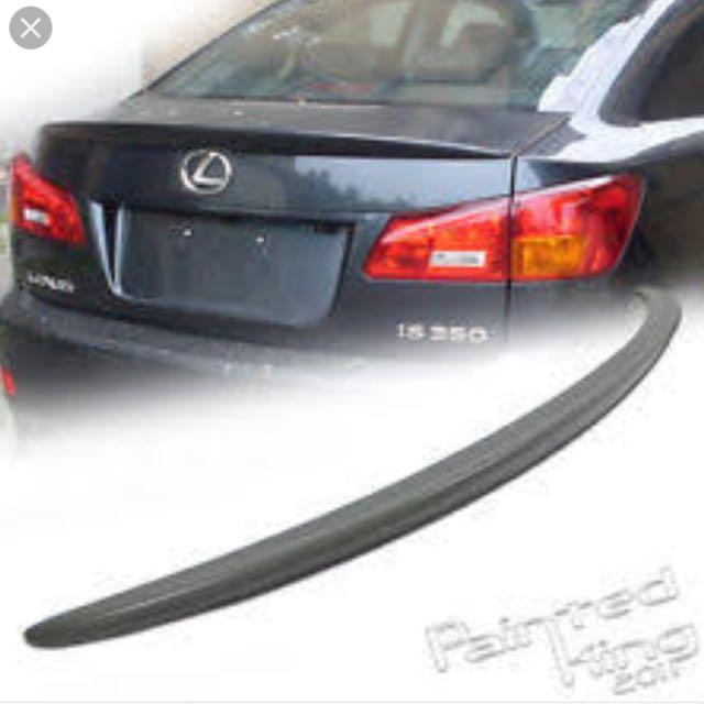 Lexus iS250: Boot Lip Spoiler