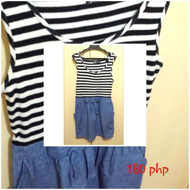 Little Stripe-maong Dress