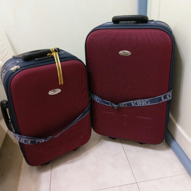 Longking 行李箱 24吋+20吋 兩個 登機箱(保留中)