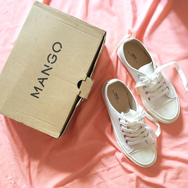 Mango White Sneakers